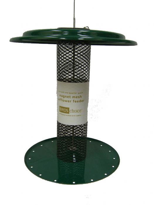Bird's Choice 1-1/4 Qt. Magnet Mesh Sunflower Tube Bird Feeder