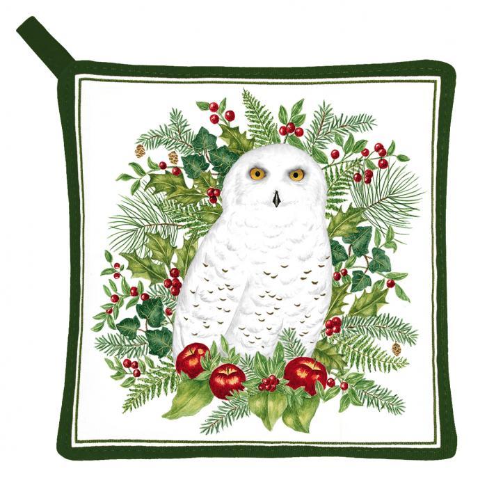 Alice's Cottage Snowy Owl Potholder