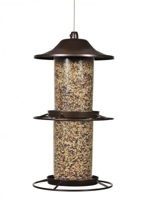 Perky Pet Panorama Tube Wild Bird Feeder