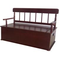Level of Discovery Simply Classic: Cherry Finish Bench Seat with Storage