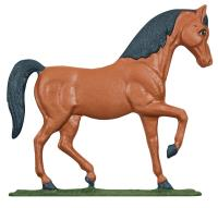 """30"""" Horse Weathervane - Rooftop Color"""