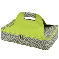 Picnic at Ascot Insulated Casserole Carrier to keep Food Hot or Cold- Grey/Green