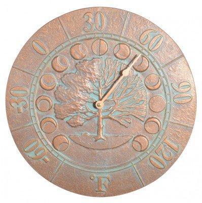 Whitehall Ivy Silhouette Clock - Copper Verdi