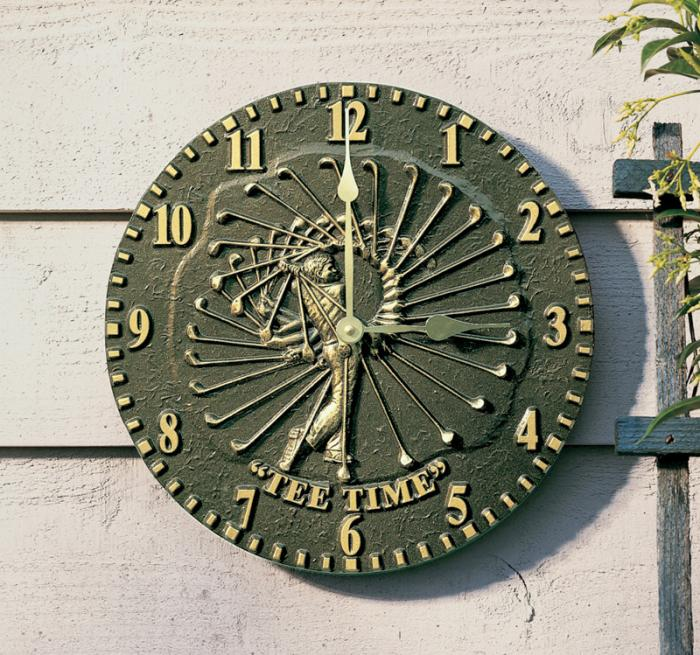 Whitehall Golfer Clock - French Bronze