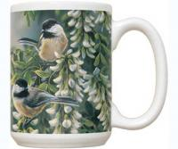 Fiddler's Elbow Springtime Jewel Chickadee 15 oz Mug