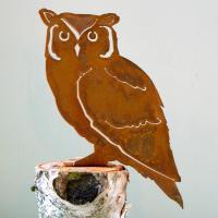 Elegant Garden Design Screech Owl Bird Silhouette