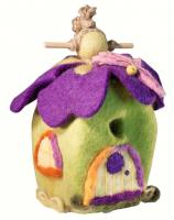 DZI Handmade Designs Pixie House Felt Birdhouse