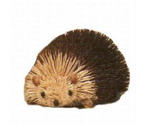 "Brushart Hedgehog Brown 6"""