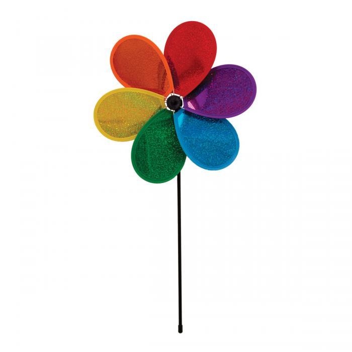 In The Breeze Rainbow Glitter Flower
