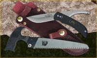 """Outdoor Edge SwingBlade Pak - SwingBlade Knife, 6"""" Kodi-Saw, and Leather Sheath"""