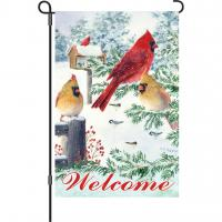 Premier Designs Snow Flurry Cardinals Garden Flag
