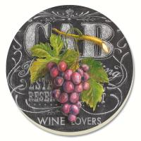 Counter Art Chalkboard Wine Coaster Gift Set