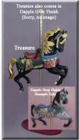 Treasure Dapple Gray Carousel Horse
