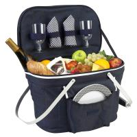 Picnic At  Ascot Color Collapsible Picnic Basket for Two, Navy