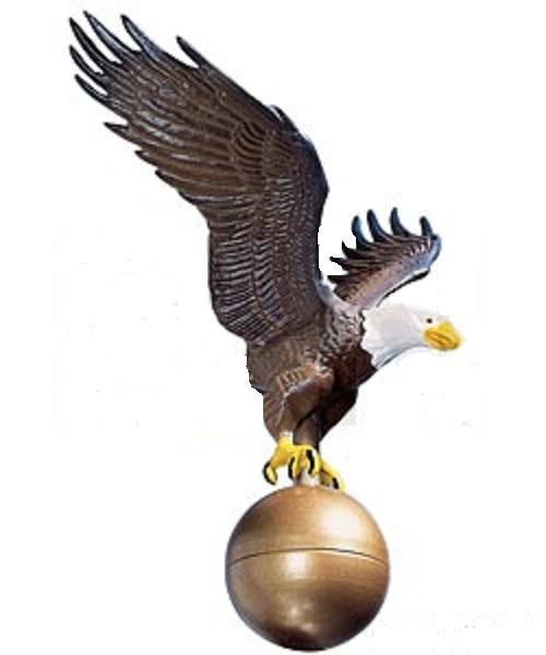 Medium Flagpole Eagle - Color