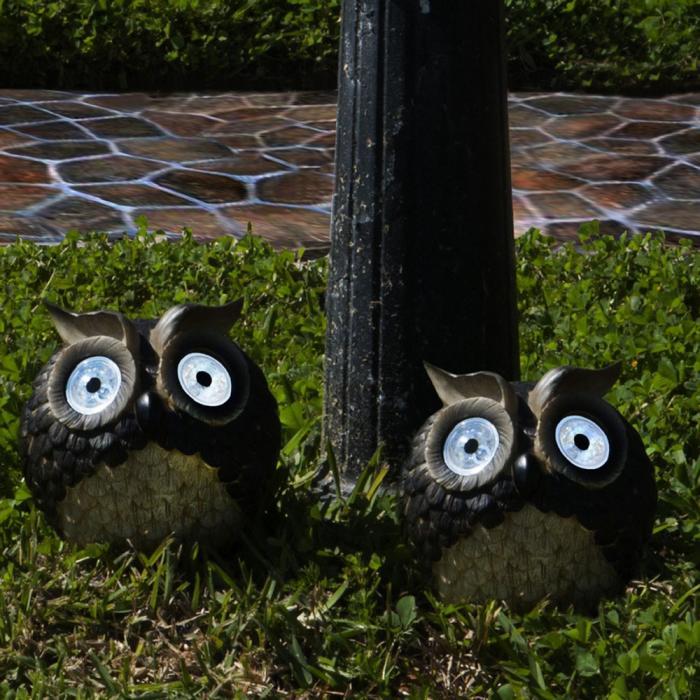 Smart Solar Solar Owl Accent, Set of 2
