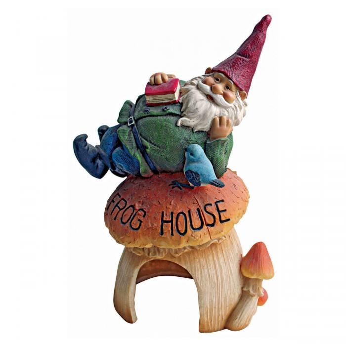 Design Toscano Frog House Gnome Friend Statue
