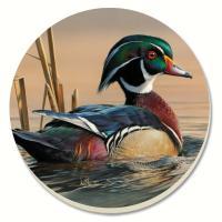 Counter Art Water Birds Wood Duck Coasters Set of 4