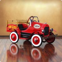 Deluxe Vintage Red Delivery Truck Roadster Pedal Car