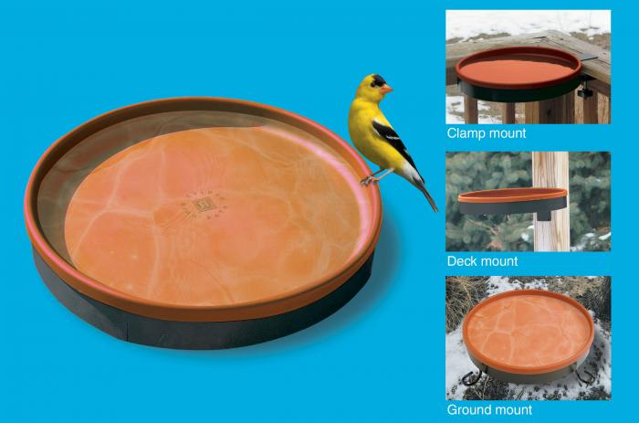 Farm Innovators 3-In-1 Heated Birdbath Terra Cotta/Black