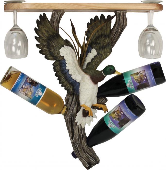 Rivers Edge Products Mallard Wine Shelf Holder