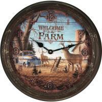 """Welcome Deer Metal Clock 15"""""""