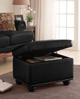 Designs2Go 5th Avenue Storage Ottoman (Black)