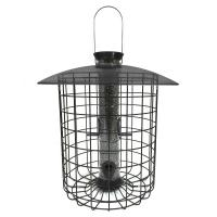 Droll Yankees Sunflower Domed Cage 4 Port Feeder Black