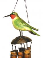 Cohasset Imports Ruby Throated Hummingbird Wind Chime