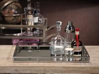 Zodax Rectangular Mirrored Tray - Large