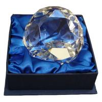 Chass Diamond Cut Glass Award Paperweight