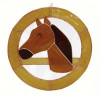 Gift Essentials Small Horse Circle Window Panel