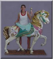 Royal Stander Mauve/Seafoam Carousel Horse