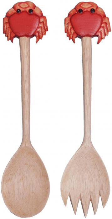 Songbird Essentials Salad Server - Crab, Red