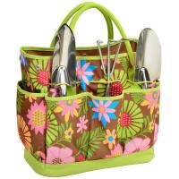 Picnic at Ascot Gardening Tote with 3 Tools - Floral