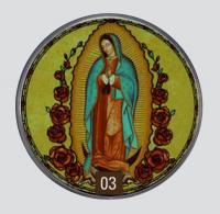 Glassmasters Our Lady of Guadalupe Suncatcher
