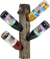 Rivers Edge Products Horse 4 Wine Bottle Holder Wall Mount