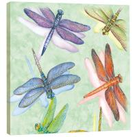 Tree Free Greetings Dragonflies Art Plaque