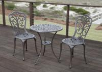 Faustina Antique Bronze 3pc. Bistro Set