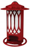 Homestead Lattice Jolly Pop Red Bird Feeder