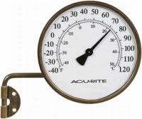"AcuRite 3.5"" Metal Thermometer with Swing Arm"