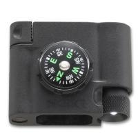 Survival Bracelet Accessory - Compass, LED, Firestarter