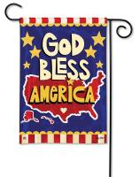 Magnet Works God Bless America Garden Flag