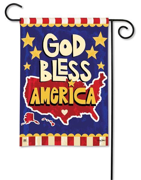 Magnet Works God Bless America Garden Flag