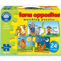 The Original Toy Company Farm Opposites Matching Puzzles