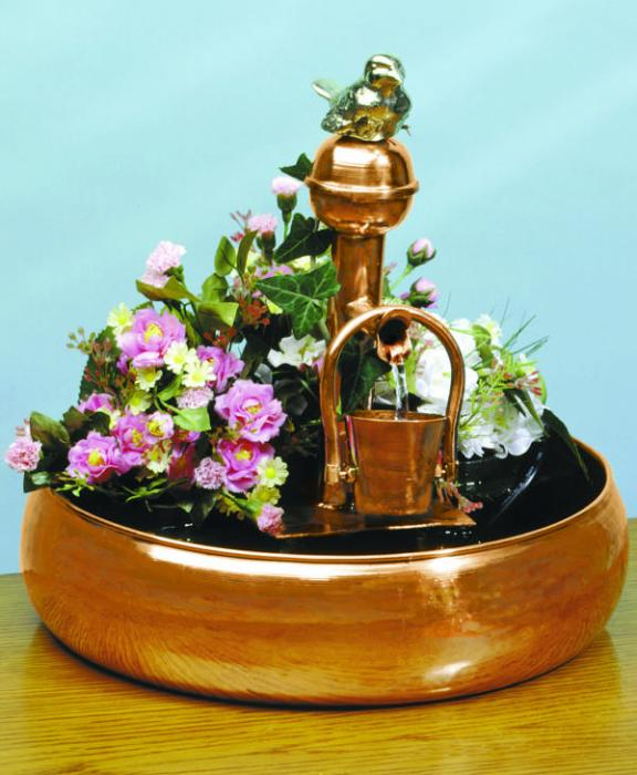 Unique Arts Filling/Pouring Bucket Fountain with Planter