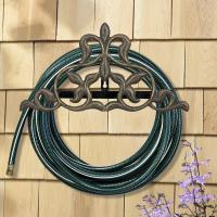 Fleur-De-Lis Hose Holder - French Bronze
