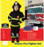 Dress Up America Deluxe Fire Fighter Set - Small 4-6