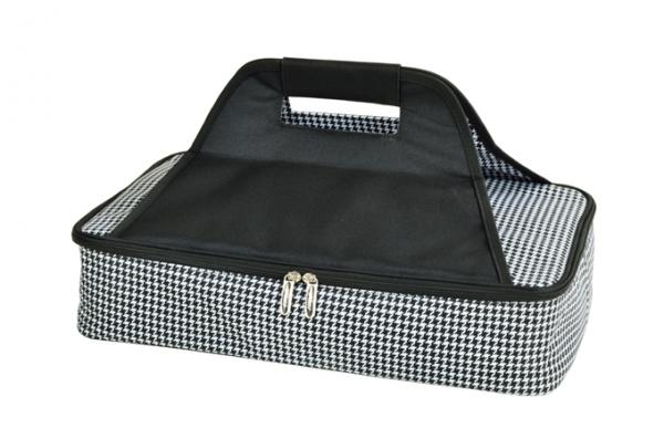 Picnic at Ascot Insulated Casserole Carrier to keep Food Hot or Cold- Houndstooth