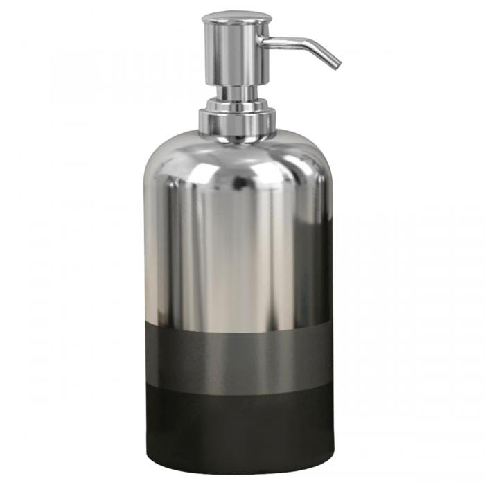 Nu Steel Triune Soap/Lotion Pump, Platinum 3 Tone Finish